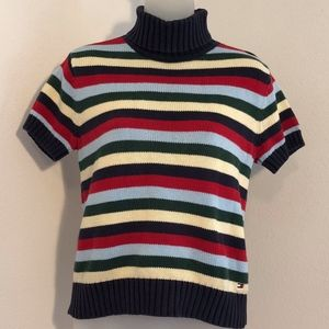 Tommy Hilfiger Striped Short Sleeve Sweater